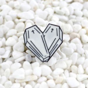 Jewelry - Coffin Heart Enamel Pin